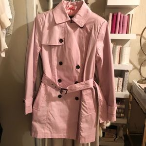 Banana Republic Pink Belted Trench Coat
